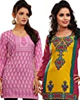 Variation Mesmerising Combo Of 2 Printed Kurti For Women