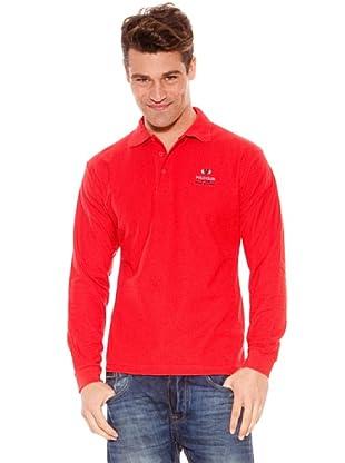 Polo Club Polo Manga Larga Caballero Regular Fit Color (Rojo)