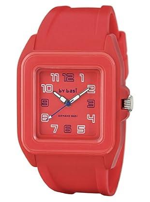 BY BASI A0851U02 - Reloj Unisex movi cuarzo correa policarbonato rojo