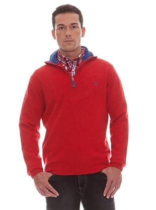 Gant Jersey Cremallera (Rojo)