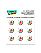 Graphics and More Rose Home Button Stickers Fits Apple iPhone 4/4S/5/5C/5S, iPad, iPod Touch - Non-Retail Packaging - Clear
