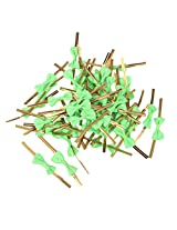 Generic 50 Metallic Twist Ties for Candy Cello Bags Biscuit Cookie Decoration Green