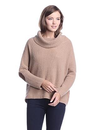 Autumn Cashmere Women's Cropped Cowl Sweater (butter scotch)