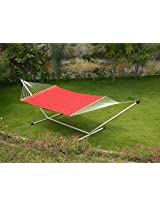 55'' Wide Soft weave quilted hammock - Red