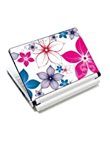 Laptop Skin Shop 15 15.6 inch Laptop Notebook Skin Sticker Cover Art Decal Fits 13.3 14 15.6 16 HP Dell Lenovo Apple Asus Acer Compaq (Free 2 Wrist Pad Included) Spring Flower Leaves