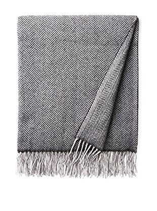 Amicale Herringbone Wool & Cashmere Throw, Grey