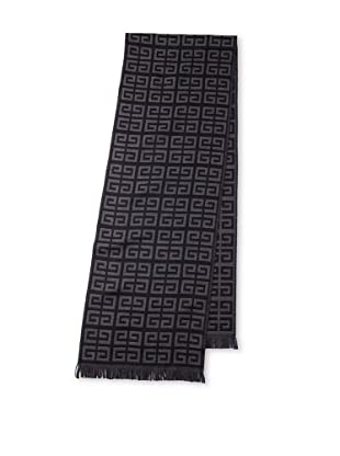 Givenchy Unisex Wool-Blend Logo Scarf, Black/Grey