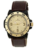 Maxima Hybrid Analog Gold Dial Men's Watch - 29923LPGY
