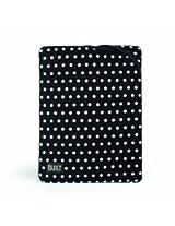 BUILT Neoprene Twist Top Sleeve for all iPads Mini Dot Black and White