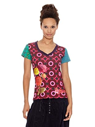 Desigual Camiseta Lolita (Granate Medio)