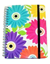 Carolina Pad Studio C College Ruled Spiral Notebook with Glitter Elastic Closure ~ Sugarland (Jumbo