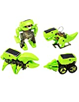 Happy Cherry 4 In 1 Solar Energy Transforming Assembly Robot Toy Kit Dinosaur Drilling Machine Beetle Insert