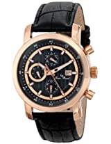 Lucien Piccard Men's LP-12584-RG-01 Toules Analog Display Swiss Quartz Black Watch