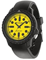 Columbia Black PU Analog Men Watch CA014 020