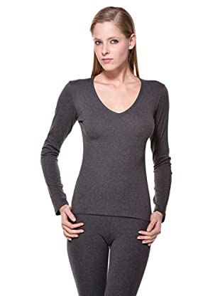 Cotonella Camiseta Cuello V (gris)