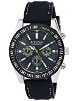 Titan Octane Multi-Function Chronograph Black Dial Men's Watch - 9491KP02J