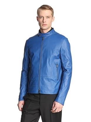 Jil Sander Men's Adamello Leather Jacket (China Blue)
