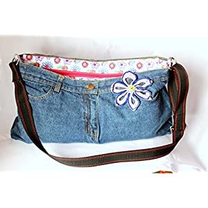 Karaashilp Lavender Flower Hipster Denim Bag