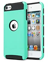 ULAK 339906 2-in-1 Protective Case for Apple iPod Touch 5 6th Generation (Aqua Mint/Black)
