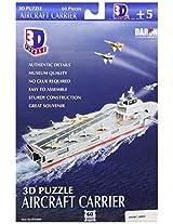 Daron Aircraft Carrier 3D Puzzle, 60-Piece