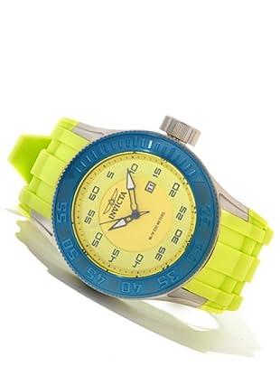 Invicta 11948 - Reloj de Caballero cuarzo poliuretano Amarillo