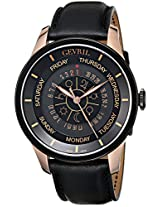 Gevril Men's 2004 Columbus Circle Analog Display Automatic Self Wind Black Watch