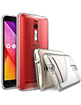 ASUS ZenFone 2 (5.5 Inch) Case - Ringke FUSION ***Earphone Hole Dust Cap & Drop Protection*** ENHANCED AND REVISED [FREE HD Film][CRYSTAL VIEW] Premium Clear Back Shock Absorption Bumper Hard Case for ASUS ZenFone 2 [ZE550ML/ZE551ML 5.5 - Not for ZE500CL] - Eco/DIY Package ...