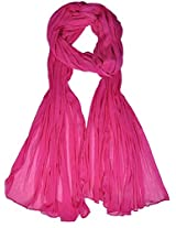 VISION INDIA CLOTHING Women's Cotton Dupatta (VIC042_Fuchsia Pink_Free Size)