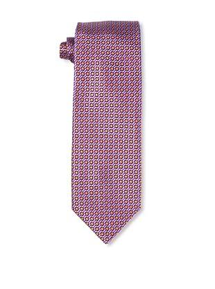 Massimo Bizzocchi Men's Box Tie, Orange/Purple