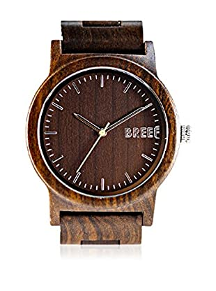 Breef Watches Reloj con movimiento japonés Unisex Ebano Original Marrón 44 mm
