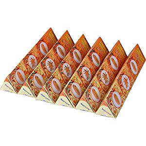 SHUVAM Golden Sandal Incense Sticks / Agarbatti / Dhup Kati of 6 Packs