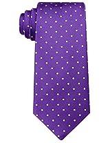 Scott Allan Men's Polka Dot Necktie - Dark Purple & White
