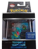 Pokemon Trainers Choice Totodile Mini Figure W/ Display Case