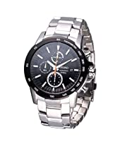 Seiko Chronograph Black Dial Men's Watch - SNDC75P1