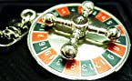 Casino Roulette Wheel Game Metal Key Chain Zinc Alloy