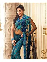 Net With Viscose Saree with Blouse