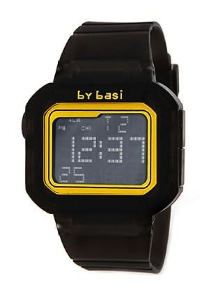 BY BASI A0971U01 - Reloj Unisex movi cuarzo correa policarbonato negro/amarillo