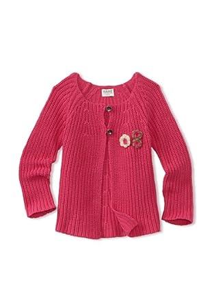 KANZ Girl's Long Sleeve Cardigan (Fuchsia)