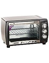 Nova Steel 23 Liter Oven Toaster Griller, 1500 Watts (Silver)