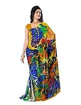 True Fashion Women's Pure Georgette Fashion Sari