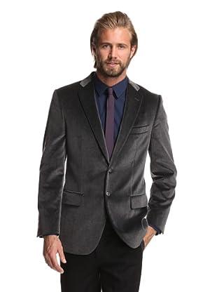 Joseph Abboud Men's 2-Button Velvet Sportcoat (Dark Grey)