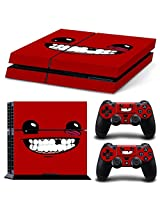 Golden Deal Ps4 Console And Dual Shock 4 Controller Skin Set Red Funny Smiling Monster Play Station 4 Vinyl
