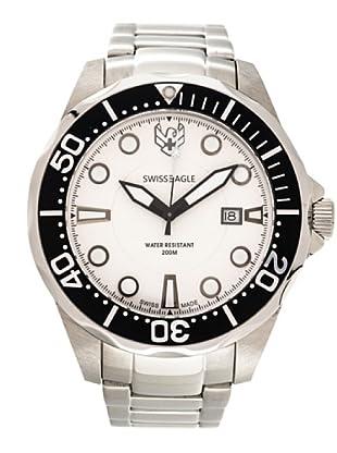 Swiss Eagle Reloj Dive Ballast blanco