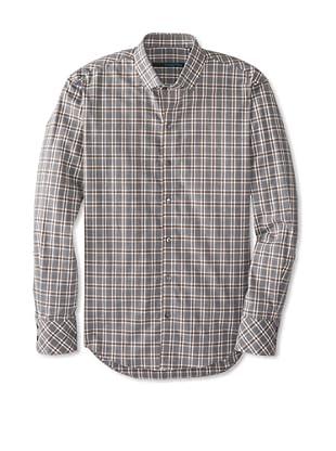 Zachary Prell Men's Gaiser Checked Long Sleeve Shirt (Grey Combo)