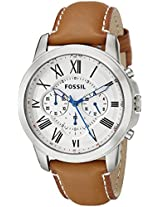 Fossil Grant Analog White Dial Men's Watch - FS5060