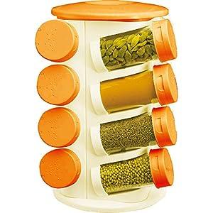 Pogo 16 Jar Revolving Multipurpose Rack White Orange
