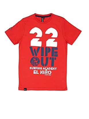 El Niño Camiseta Manga Corta Wipe Out (Rojo)