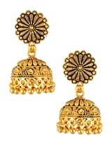 Divinique Jewelry Gold Plated Antique look Traditional Jhumki for women
