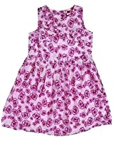 Mind The Gap Cotton Printed Girls Frock - Multicolour