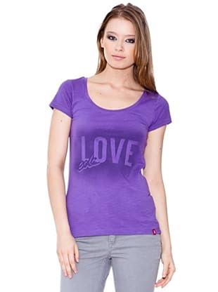 Esprit Camiseta Print (Morado)